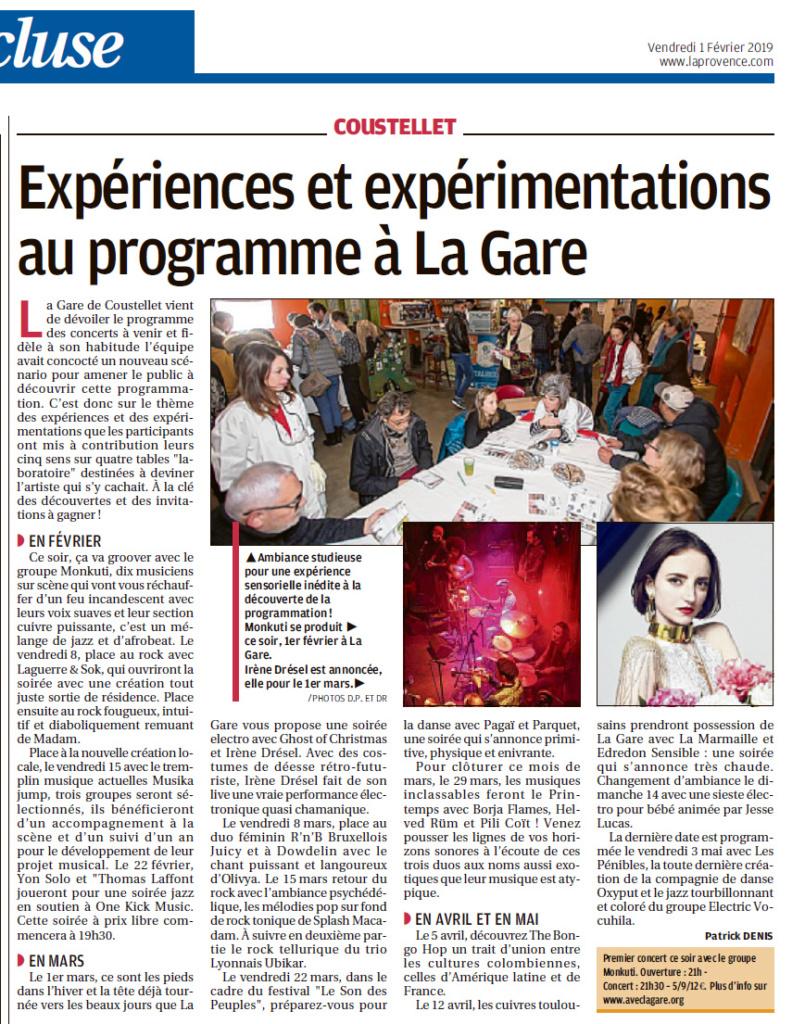 20190201 La Gare programme